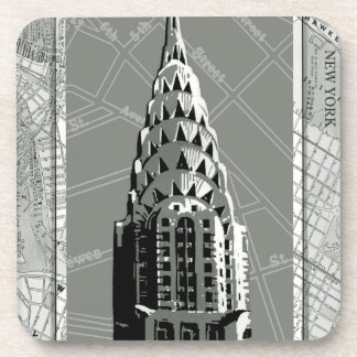 Streets of New York with Empire State Building Beverage Coasters