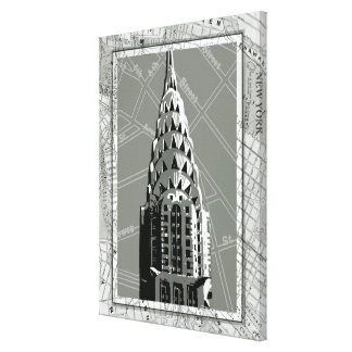 Streets of New York with Empire State Building Canvas Print
