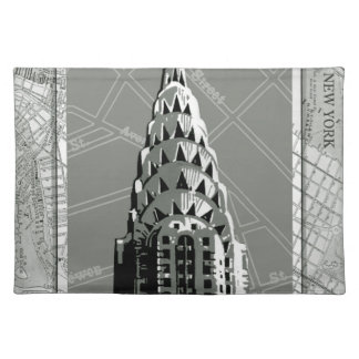 Streets of New York with Empire State Building Cloth Placemat
