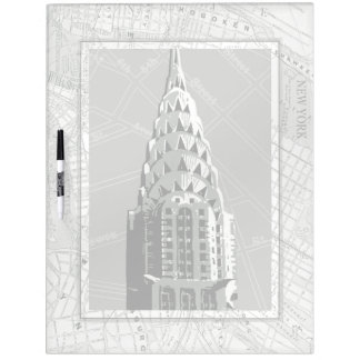 Streets of New York with Empire State Building Dry Erase Board