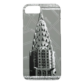 Streets of New York with Empire State Building iPhone 7 Case