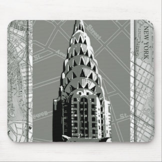 Streets of New York with Empire State Building Mouse Pad