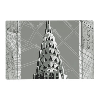 Streets of New York with Empire State Building Placemat