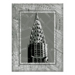 Streets of New York with Empire State Building Poster