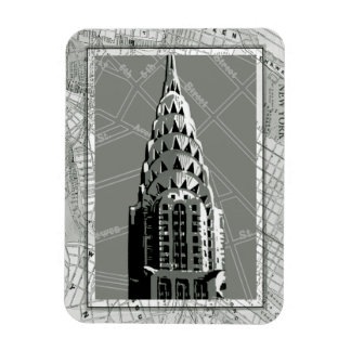Streets of New York with Empire State Building Rectangular Photo Magnet