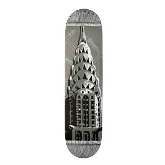Streets of New York with Empire State Building Skateboard Deck