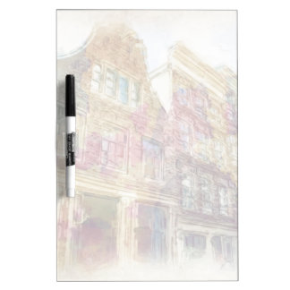 Streets of Old Amsterdam Dry-Erase Board