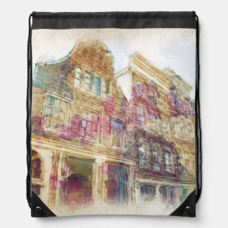 Streets of Old Amsterdam Backpacks