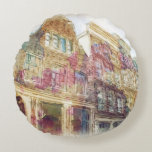 Streets of Old Amsterdam Round Pillow
