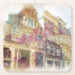 Streets of Old Amsterdam Square Paper Coaster
