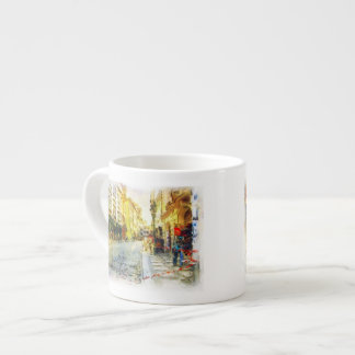 Streets of Old Prague watercolor Espresso Cup
