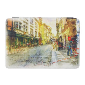 Streets of Old Prague watercolor iPad Mini Cover