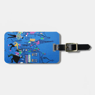 Streets of Paris Luggage Tag - Customize it!