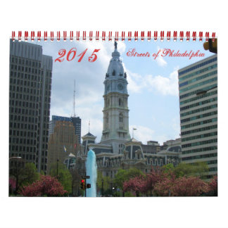 Streets of Philadelphia 2015 photography calendar