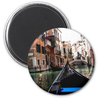 Streets of Venice 2 Inch Round Magnet