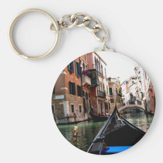 Streets of Venice Basic Round Button Keychain