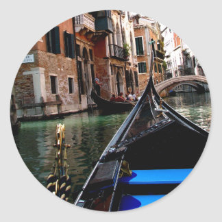 Streets of Venice Classic Round Sticker