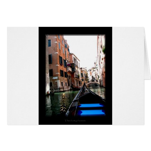 Streets of Venice Greeting Cards