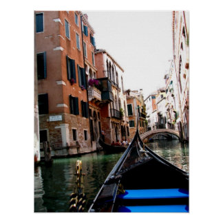 Streets of Venice Poster