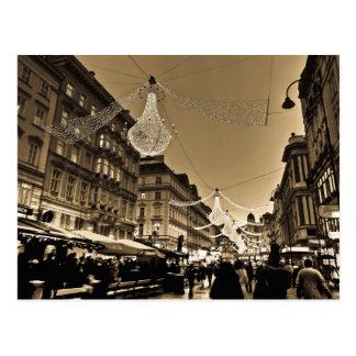 Streets of Vienna at Christmas Holiday Card