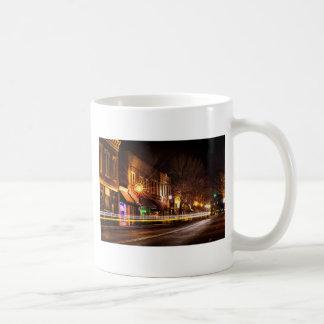 Streets of York, S.C. at night Coffee Mug
