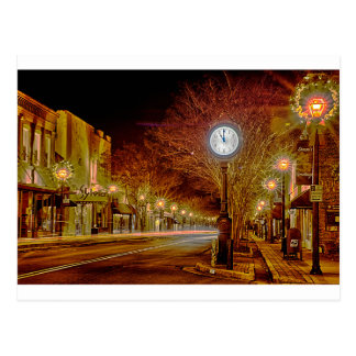 Streets of York, S.C. at night Postcard