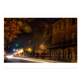 Streets of York, SC at night Postcard