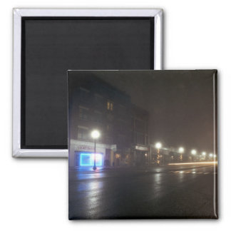 Streetscape IV  - Greenfield as Paris 2 Inch Square Magnet