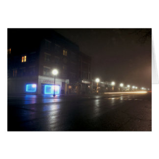 Streetscape IV  - Greenfield as Paris - Night Ligh Card