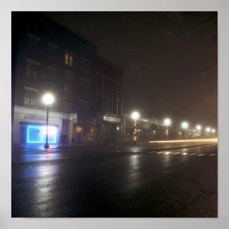 Streetscape IV - Greenfield as Paris print