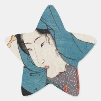 Streetwalker (Tsujigimi) by Keisai Eisen Star Sticker