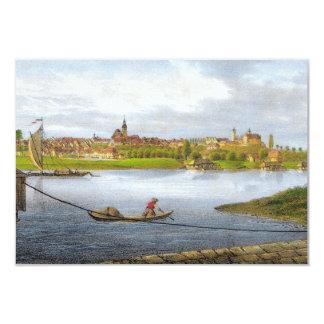 Strehla by Carl Wilhelm Arldt 1840 Card