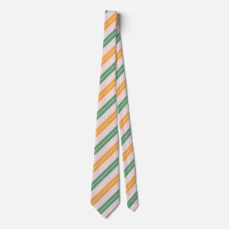 Streifen grün orange stripes green tie
