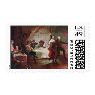 Streit At The Inn By Januarius Zick (Best Quality) Stamps
