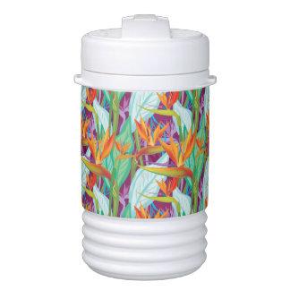 Strelitzia Pattern Beverage Cooler