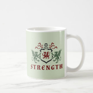 Strenght Heraldic Dragon Coffee Mug