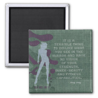 Strength and Inner-Beauty in Cross-Stitch Magnet