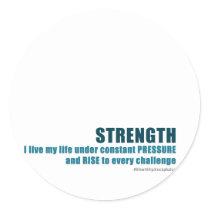 Strength Classic Round Sticker