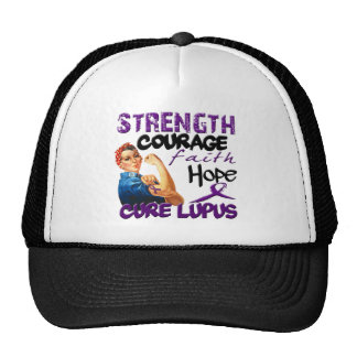 Strength, Courage, Faith, Hope, - Cure Lupus Hat