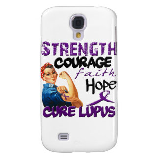 Strength, Courage, Faith, Hope, - Cure Lupus Samsung Galaxy S4 Cover
