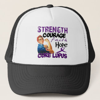 Strength, Courage, Faith, Hope, - Cure Lupus Trucker Hat