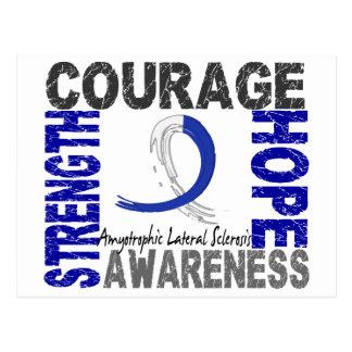 Strength Courage Hope ALS Postcard
