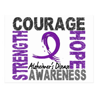 Strength Courage Hope Alzheimer's Disease Postcard