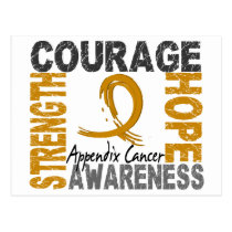 Strength Courage Hope Appendix Cancer Postcard