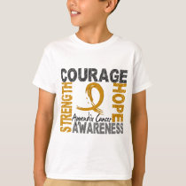 Strength Courage Hope Appendix Cancer T-Shirt