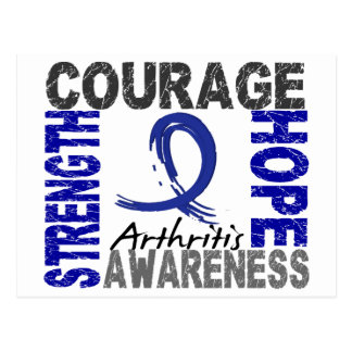 Strength Courage Hope Arthritis Postcard