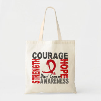 Strength Courage Hope Blood Cancer Tote Bag