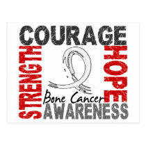 Strength Courage Hope Bone Cancer Postcard