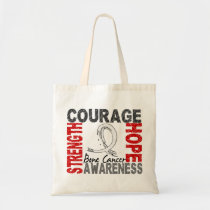 Strength Courage Hope Bone Cancer Tote Bag