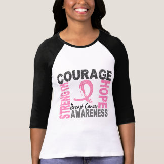 Strength Courage Hope Breast Cancer T-Shirt